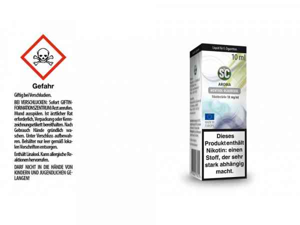 Menthol-Blaubeere E-Zigaretten Liquid
