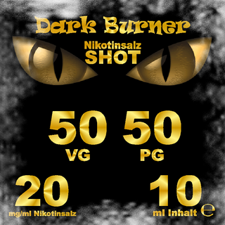 Shot Salt Dark Burner 10 ml Nikotinsalz 20 mg