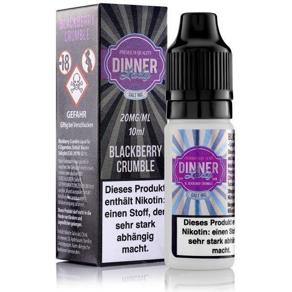 Dinner Lady - Blackberry Crumble Nicotine Salt